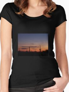 Tucson Sunset Women's Fitted Scoop T-Shirt