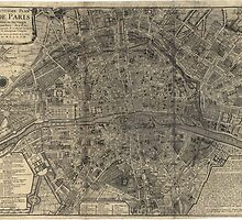 Vintage Map Of Paris - 1705 - Nicolas De Fer by VintageParis