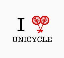 I (love) unicycle - red Unisex T-Shirt