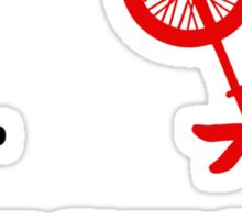 I (love) unicycle - red Sticker