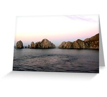 LANDS END CABO SAN LUCAS MEXICO Greeting Card