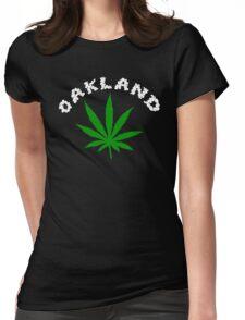 Oakland Marijuana Womens Fitted T-Shirt