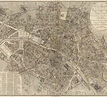 Vintage Map of Paris - 1823 - Ledoyen by VintageParis