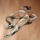 Reclining female nude #1 by Jan Szafranski