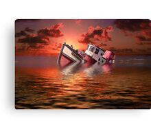 Sinking Boat Canvas Print