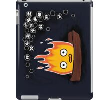 Calcifer and Soot Sprites Drawing  iPad Case/Skin