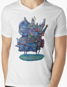 Fandom Moving Castle Mens V-Neck T-Shirt