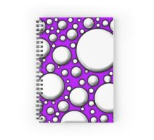 Purple Mushroom Design Spiral Notebook