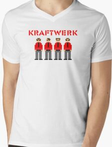 Kraftwerk 8-bit Mens V-Neck T-Shirt
