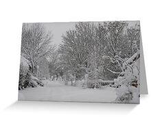 Winter Lane Greeting Card