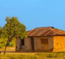 Tribal house outside Mombasa, Kenya Sticker