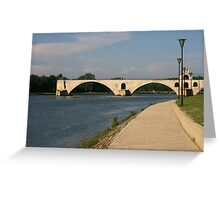 The bridge over the Rhone at Avignon France Greeting Card