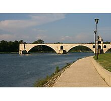 The bridge over the Rhone at Avignon France Photographic Print