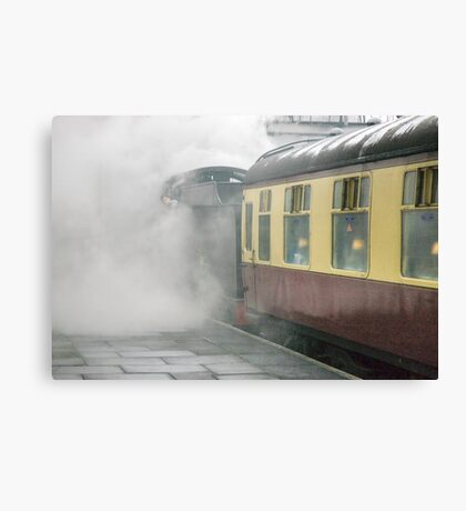 The 14:15 to Leicester leaving Loughborough, UK Canvas Print