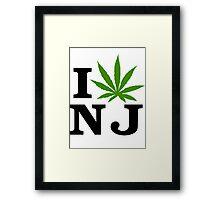 I Love New Jersey Marijuana Cannabis Weed T-Shirt Framed Print