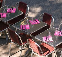 """""""Ready for lunch"""" Cafe tables Avignon France by Paul Pasco"""