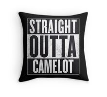 Straight Outta Camelot Throw Pillow