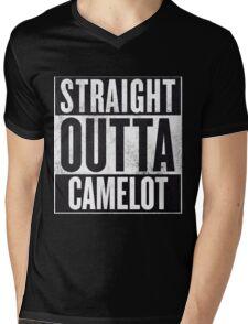 Straight Outta Camelot Mens V-Neck T-Shirt