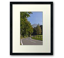 Alpine Driving Framed Print