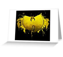 MUSIC - Wu-Tang Clan Logo V3.0 Greeting Card
