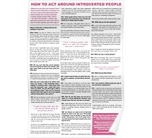 How to act around introverted people (full interview, black on white) Poster