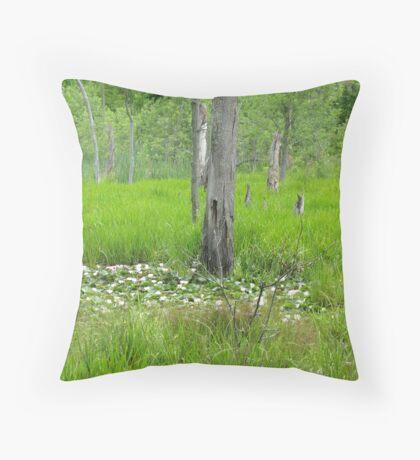 Blooming Swamp Throw Pillow