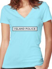 Island Police (moonrise kingdom) Women's Fitted V-Neck T-Shirt