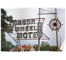 Route 66 - Wagon Wheel Motel Poster