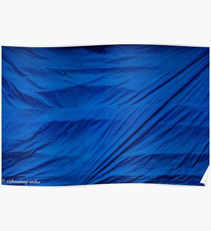 blue screen Poster