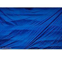 blue screen Photographic Print