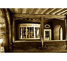 Old Book Shop Photographic Print