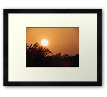 Long Day is Done Framed Print