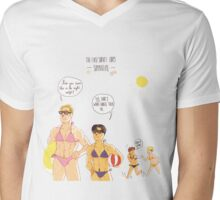First summertime at the Survey Corps Mens V-Neck T-Shirt