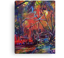 The Playground Train Canvas Print