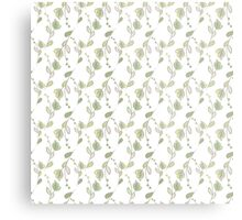 Seamless ecology pattern with hand drawn leaves Metal Print