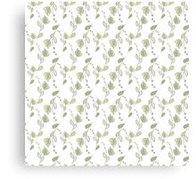 Seamless ecology pattern with hand drawn leaves Canvas Print