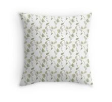 Seamless ecology pattern with hand drawn leaves Throw Pillow