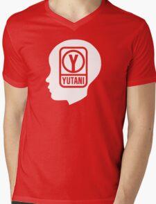 YUTANI Corporate Logo (Head version) [White] Mens V-Neck T-Shirt