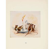 Cecily Parsley's Nursery Rhymes Beatrix Potter 1922 0060 Mice Putting Out a Candle Photographic Print