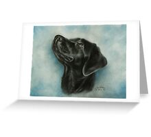 Portrait of a Labrador in pastel. Greeting Card