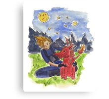 Cloud and Red XIII Canvas Print