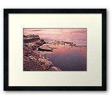 Pink Bogey Hole Framed Print