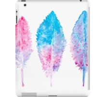 Elegant vector background with watercolor drawing feathers. iPad Case/Skin