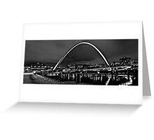 Millenium Bridge Snow Clouds Mono Greeting Card