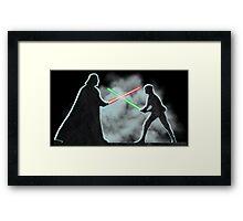 Vader Luke duel Framed Print