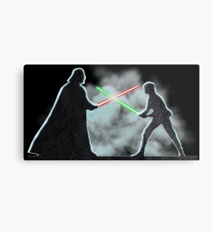 Vader Luke duel Metal Print