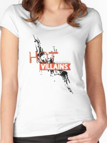 Hot Villains Aesthetics Women's Fitted Scoop T-Shirt