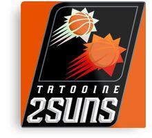 Tatooine 2Suns - Star Wars Sports Teams Metal Print