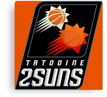 Tatooine 2Suns - Star Wars Sports Teams Canvas Print