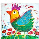 Chicken Love 2 by ART PRINTS ONLINE         by artist SARA  CATENA